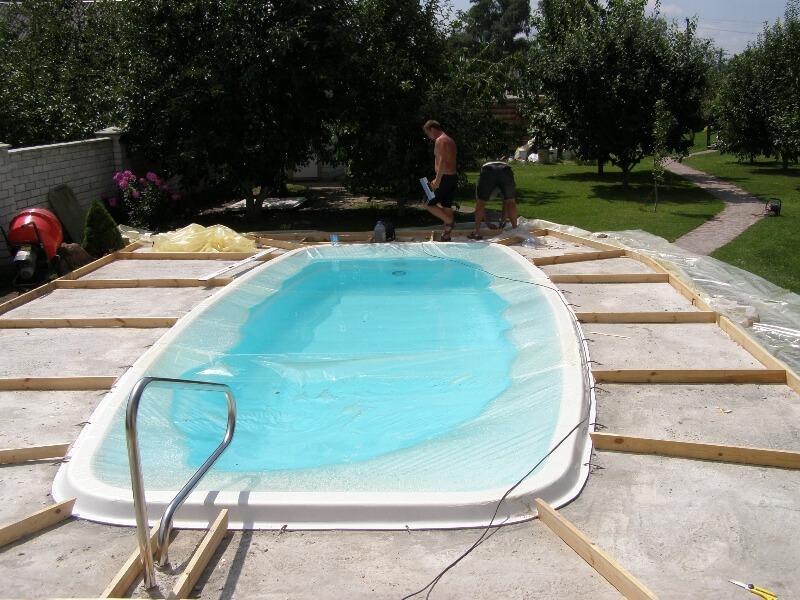 Композитный БАФФАЛО бассейн (7,6x3,5x1,6) - 2