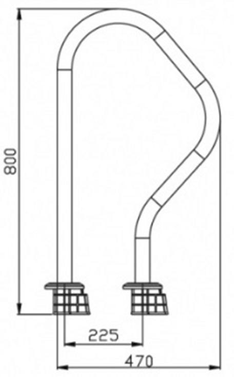 Поручень ARV EMAUX (верхняя часть лестницы) - 1