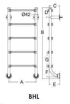 Лестница серия BHL EMAUX (нижняя часть лестницы) - 1