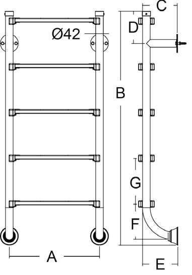 Лестница серии BHK EMAUX (нижняя часть лестницы) - 2