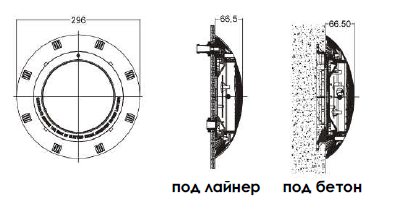 Галогенный прожектор 75w/12v + светофильтры (бетон) UL-P100 - 1