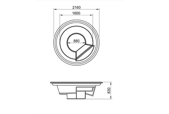 Купель МИРАЖ-2 стандарт (2,1х0,83) - 1