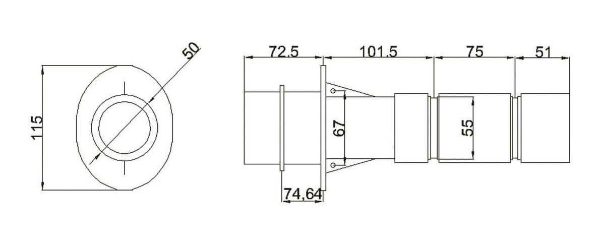 Проход в бетон (резьба 2'') Aquant - 1