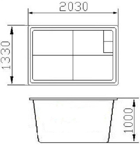 БОКС (с крышкой) (2,0х1,3х1,0) - 1