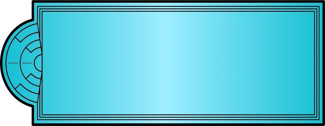 Бассейн ЭЛИТ (11,4x4,1x1,6) - 1