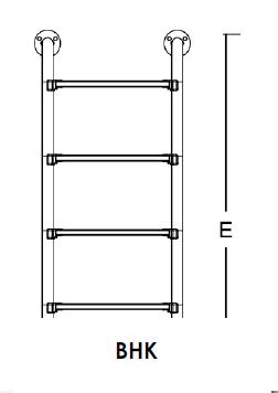 Лестница серии BHK EMAUX (нижняя часть лестницы) - 1